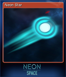 Neon Space Card 1