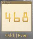 Odd Even Foil 5