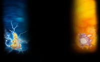 Minimon Background Minimon - Fire and Thunder