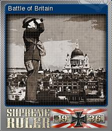 Supreme Ruler 1936 Foil 7