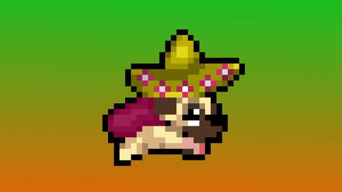Super Mega Neo Pug Artwork 1