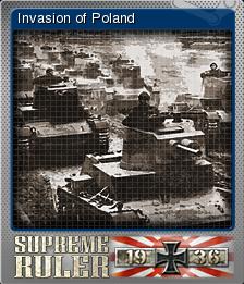 Supreme Ruler 1936 Foil 8