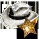 Call of Juarez Gunslinger Badge Foil