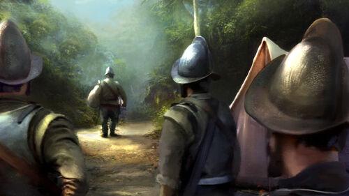 Conquistadors on the road again artwork