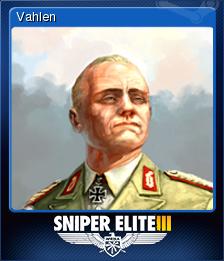 Sniper Elite 3 Card 9