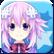 MegaTagMension Blanc + Neptune VS Zombies Emoticon zneptune