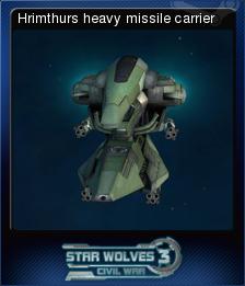 Star Wolves 3 Civil War Card 8