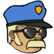 Three Dead Zed Emoticon policecops