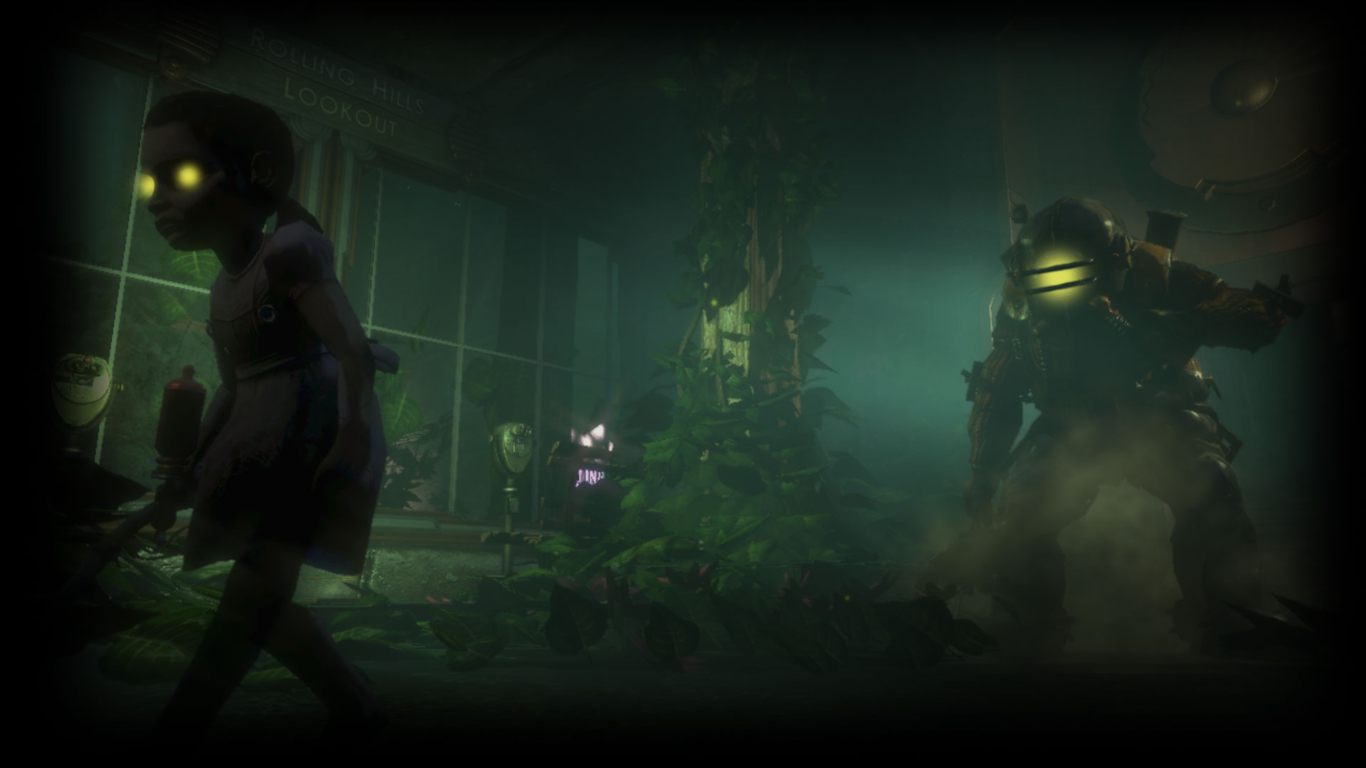 BioShock Remastered Background Big Daddy Follows Little Sister