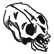 One Way To Die Emoticon the skull