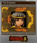 Avaris 2 The Return of the Empress Foil 1
