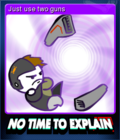 No Time To Explain Remastered Card 3