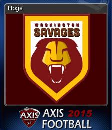 Axis Football 2015 Card 7