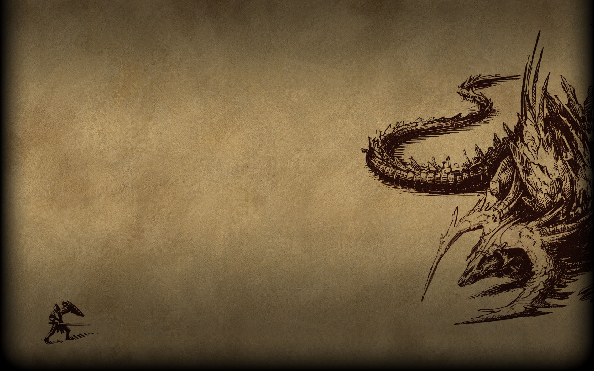 Pillars Of Eternity Wallpaper: Pillars Of Eternity Background Dragon Sketch.jpg