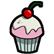 Eets Munchies Emoticon cupcake