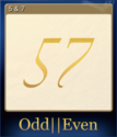 Odd Even Card 1