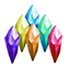 Faerie Solitaire Emoticon crystals