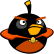 Angry Birds Space Emoticon BombBird