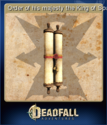 Deadfall Adventures Card 15
