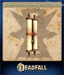 Deadfall Adventures Card 15