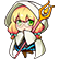 BlazBlue Chronophantasma Extend Emoticon Trinity