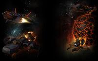 Starion Tactics Background Terran fleet background