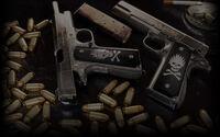 World of Guns Gun Disassembly Background Colt M1911