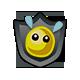 Flix The Flea Badge 1