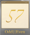Odd Even Foil 1