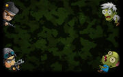 Zombie Wars Invasion Background Soldiers & Zombies