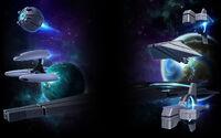 Starion Tactics Background Trade Federation fleet background