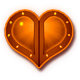 Dungeon Hearts Badge Foil