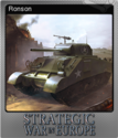Strategic War in Europe Foil 7