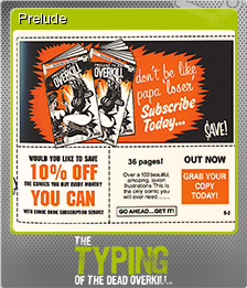 The Typing of the Dead Overkill Foil 08