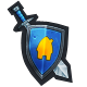 Villagers and Heroes Badge 2