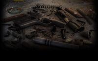 World of Guns Gun Disassembly Background Colt M1911 background