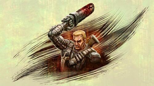 Chainsaw Warrior Artwork 1