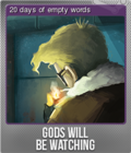 Gods Will Be Watching Foil 2