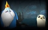 Adventure Time Finn and Jake Investigations - Ice King & Gunter