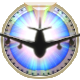 Airport Madness Time Machine Badge Foil