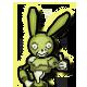 Boo Bunny Plague Badge Foil