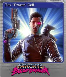 Far Cry 3 Blood Dragon Rex Power Colt Steam Trading Cards