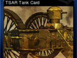 Toy Soldiers: Complete - TSAR Tank Card