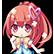 Hyperdevotion Noire Goddess Black Heart Emoticon Saori