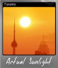 Actual Sunlight Foil 8