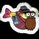 Blowy Fish Badge 3