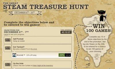 Steam treasure hunt