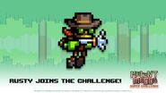 Rusty in Mutant Mudds Super Challenge