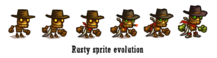 Rusty Sprite Evolution