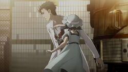 Okabe in der alternativen Episode 23